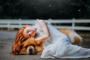 dog hug